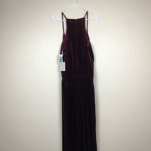 1. State Other - 1. State Burgundy Velour Jumpsuit Large